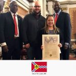Jessica Bueler receives Resolution No. 203