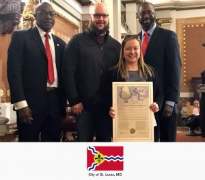 Jessica Bueler receives Resolution No. 203