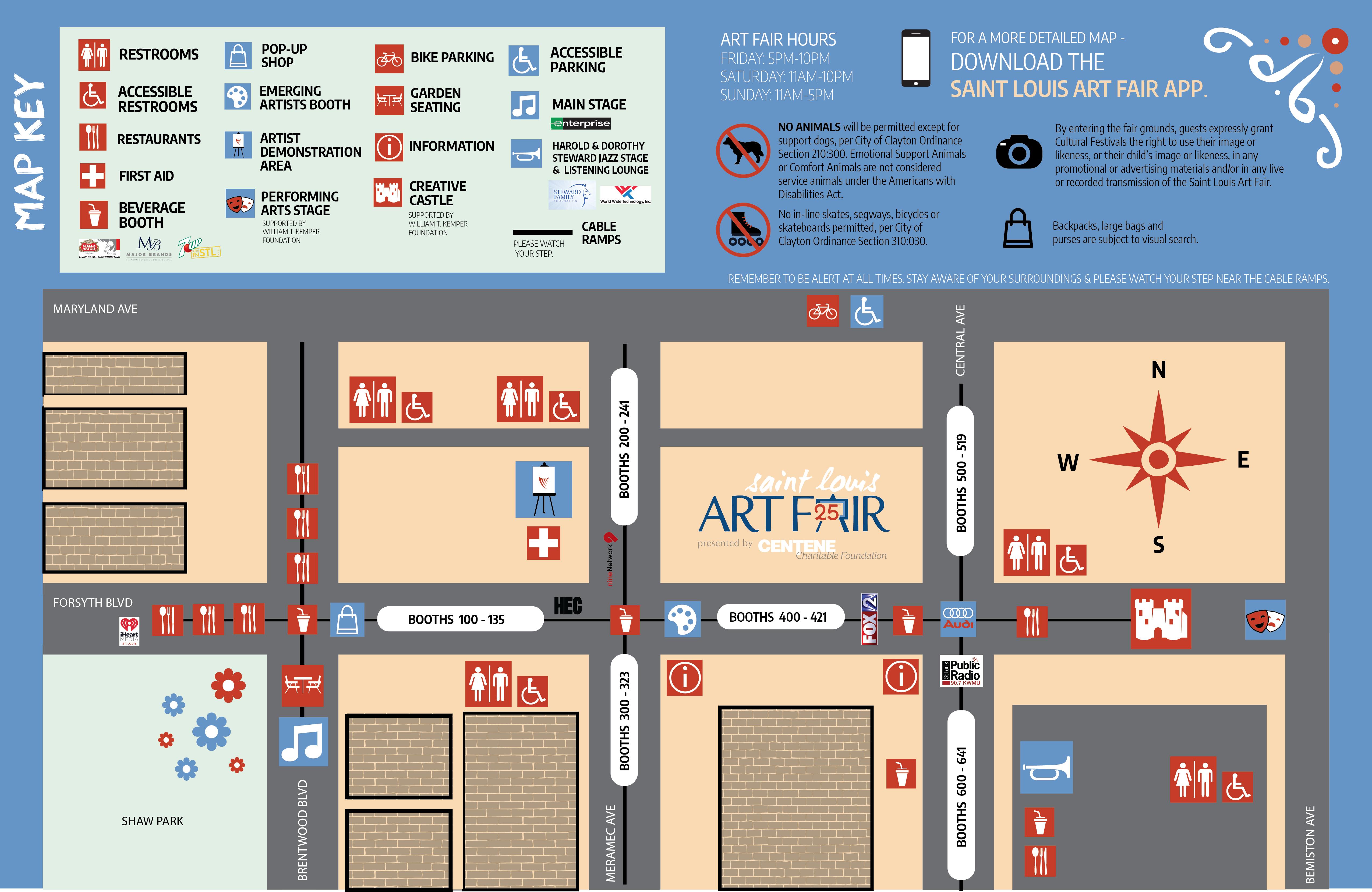 Saint Louis Art Fair Map