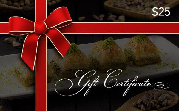 Baklava Gift Certificate
