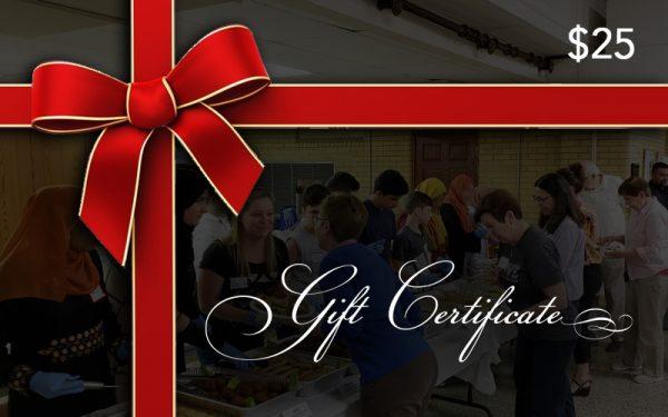 Supper Club Gift Certificate
