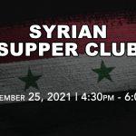 Syrian Drive-Thru Supper Club - Sept 25